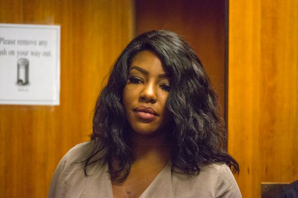 Charlo Greene appears in court during her arraignment on drug charges in2015. (Loren Holmes / Alaska Dispatch News)