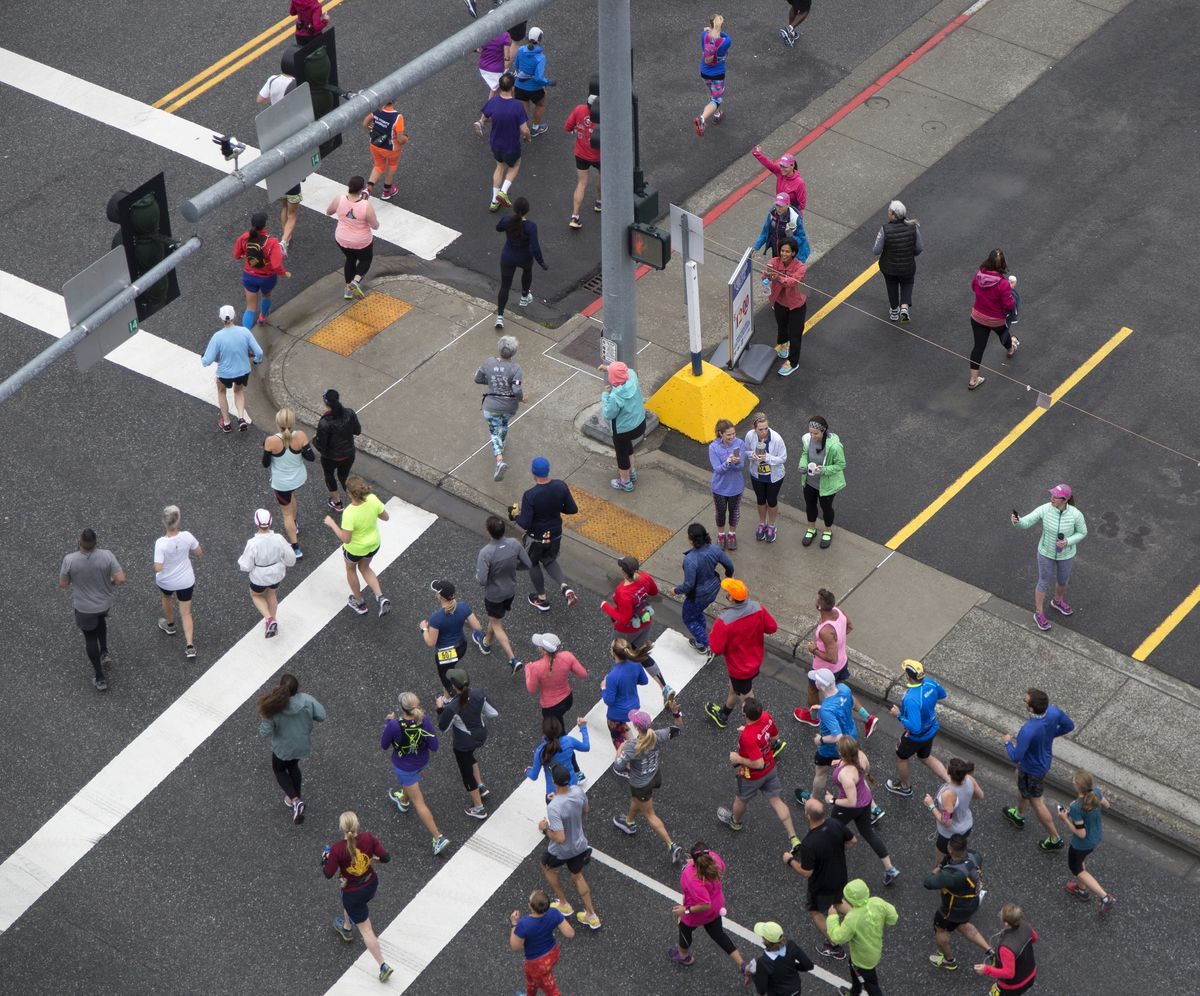 Runners participate in Anchorage RunFest on Sunday. (Rugile Kaladyte / Alaska Dispatch News)
