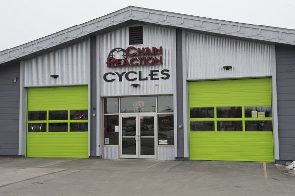 Chain Reaction Cycles is located at 1148 Huffman Road. Photographed on April 4, 2018. (Marc Lester / ADN)