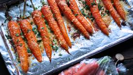 You'll be sneaking a couple of these parmesan-roasted Alaska carrots before dinner