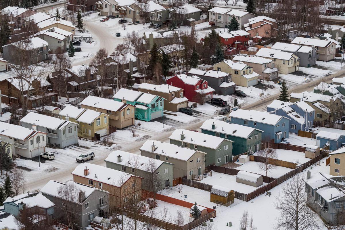 Residences near Baxter Bog in East Anchorage. (Loren Holmes / ADN file)