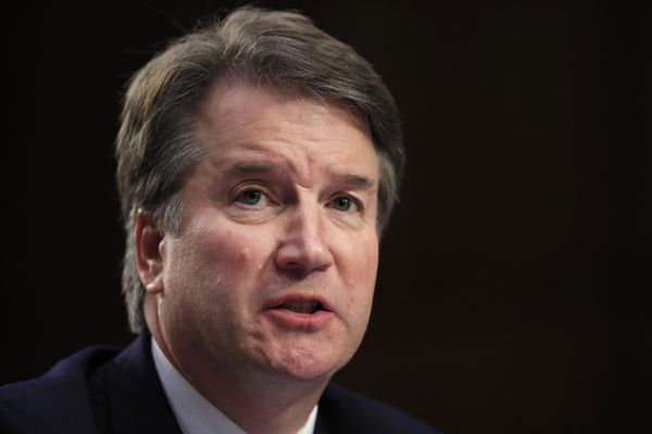 Supreme Court nominee Brett Kavanaugh, testifies before the Senate Judiciary Committee on Capitol Hill in Washington, Wednesday, Sept. 5, 2018, for the second day of his confirmation hearing to replace retired Justice Anthony Kennedy. (AP Photo/Manuel Balce Ceneta)