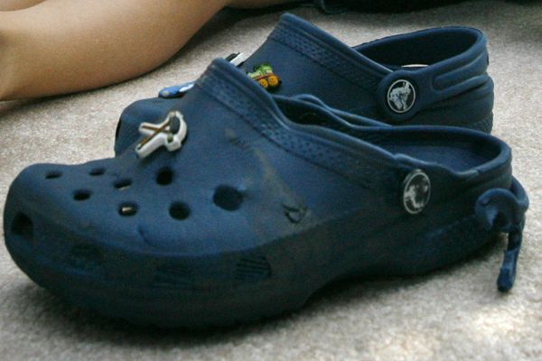 Outdoors columnist Alli Harvey says Crocs might not be the pinnacle of fashion, but they're her favorite camp shoes. (AP File Photo/Jacquelyn Martin)