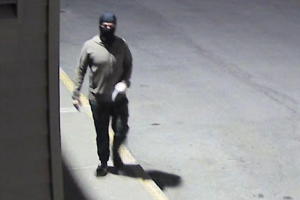 APD detectives are asking the public's help in identifying a person of interest in the investigation regarding the placement of swastika stickers. The subject was seen in the areas of two locations on 5/25/21 between midnight and 4 a.m. (Photo provided by APD)