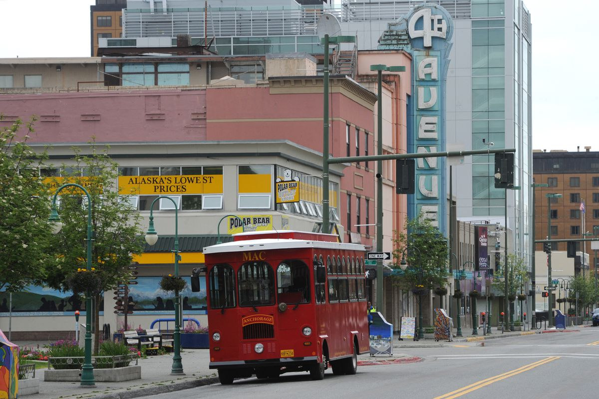 The lack of summer tourists is noticeable along 4th Avenue in downtown Anchorage on Tuesday, June 9, 2020. (Bill Roth / ADN archive)