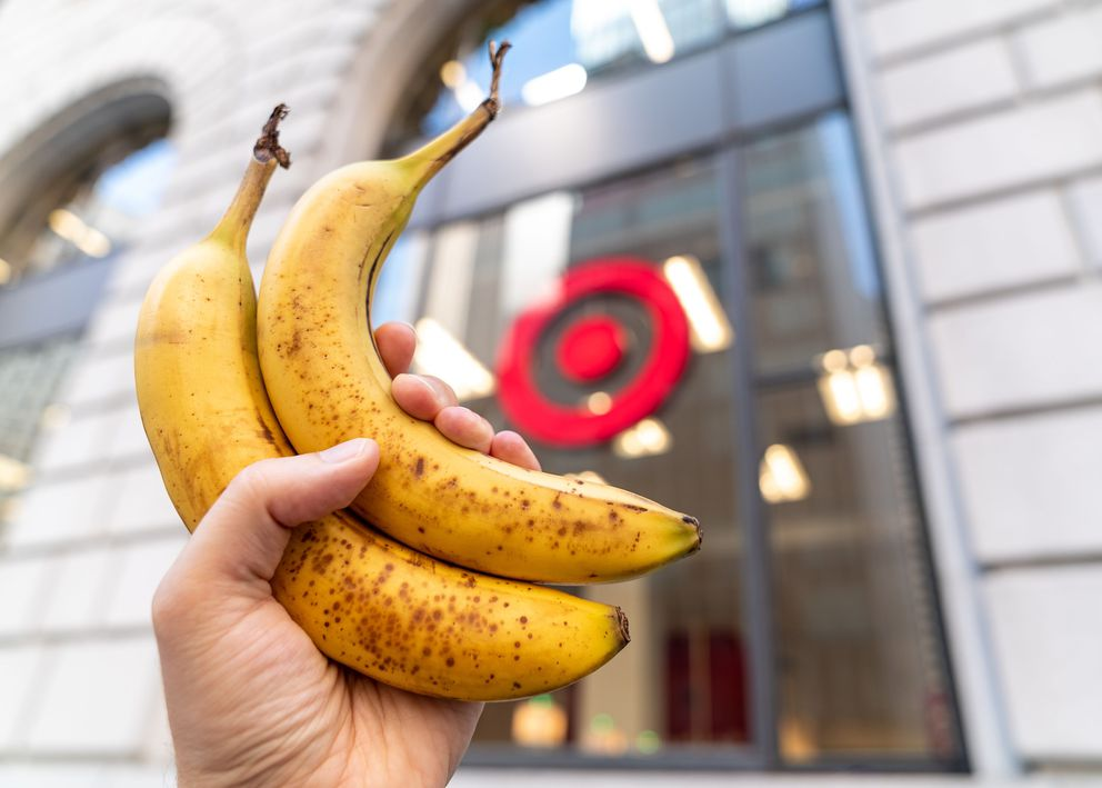 For The Washington Post's credit privacy experiment, two bananas were purchased at Target. Washington Post photo by James Pace-Cornsilk