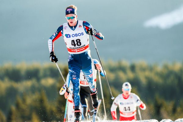 Erik Bjornsen competes in the men's skiathlon in Lillehammer, Norway in Dec. 2017. Terje Bendiksby/ NTB scanpix via REUTERS