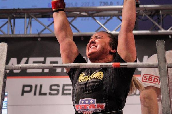 Natalie Hanson breaks the world record with a squat of 603 lbs in Pilsen, Czech Republic during the International Powerlifting Federation open world championships on Friday, Nov. 17, 2017. (Heinrich Janse Van Rensburg / International Powerlifting Federation)