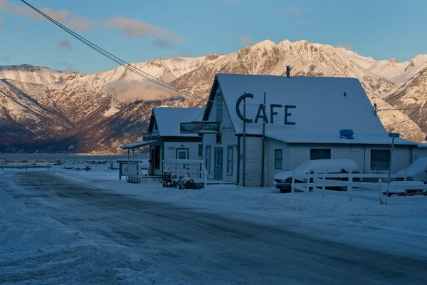 Main Street in Hope near the Seaview Cafe on December 22, 2016. (Marc Lester / ADN archive)