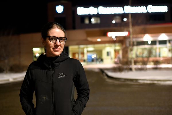 Dr. Anne Zink, Alaska's chief medical officer and an emergency room physician, received her first COVID-19 vaccination shot at Mat-Su Regional Medical Center in P almer on December 18, 2020. (Marc Lester / ADN)