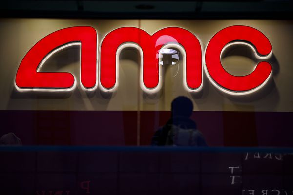 An AMC Entertainment movie theater in Santa Monica, Calif. Bloomberg photo by Patrick T. Fallon.