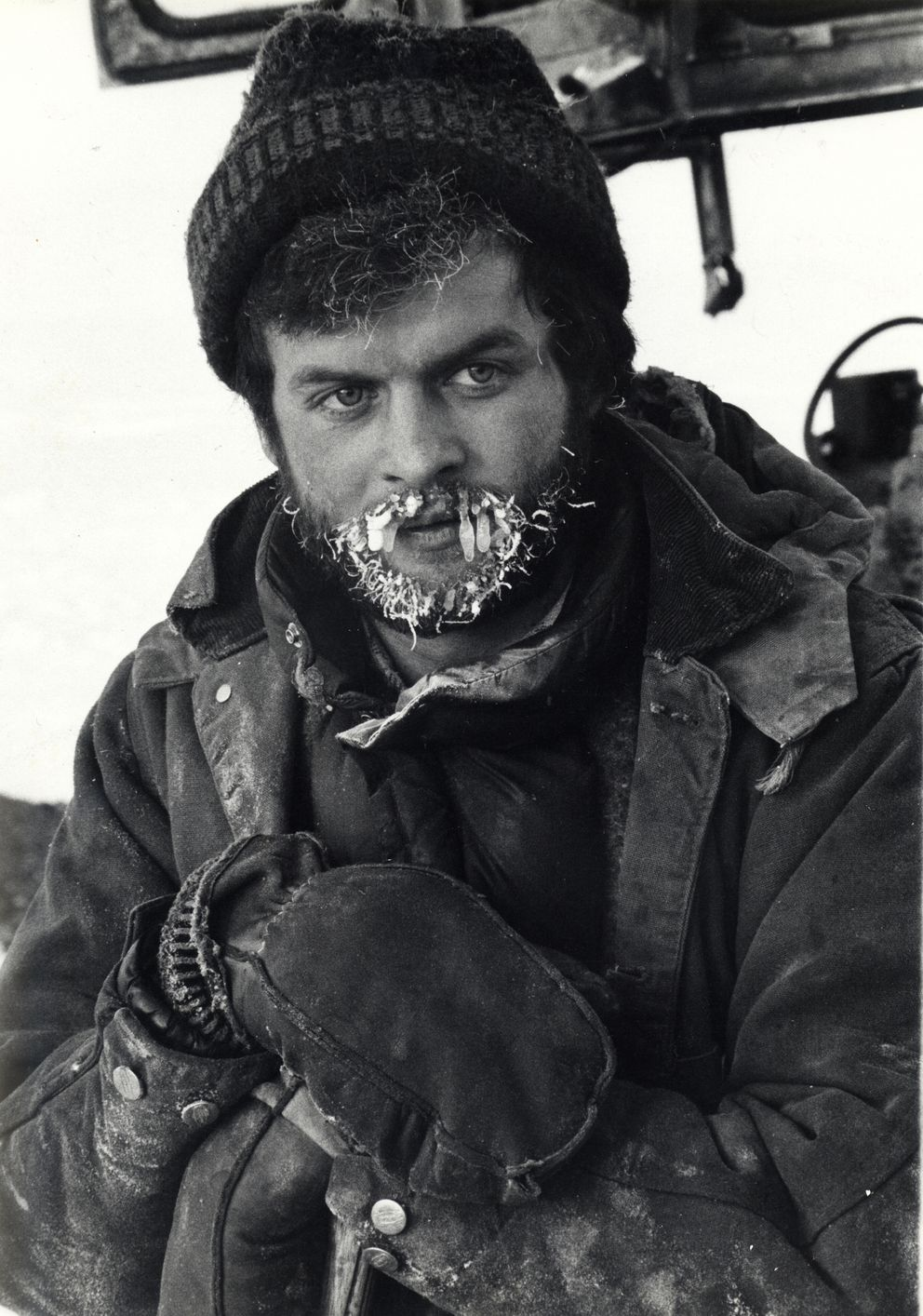 Jim Dore is pictured Jan. 30, 1975, during his first winter working at Prudhoe Bay. (Sarah Webb Barrell)