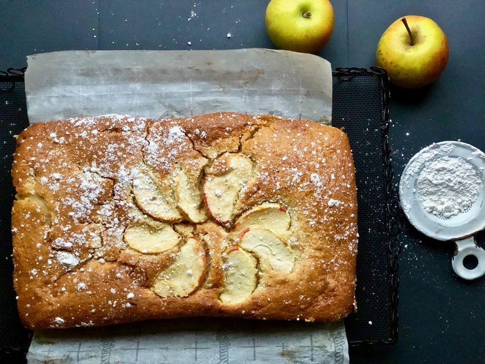 Fresh apple cake. (Kim Sunee)