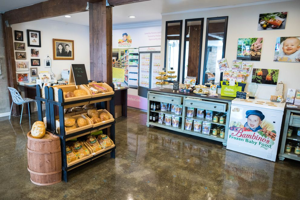Bambino's Baby Food opened to the public on Friday. (Loren Holmes / Alaska Dispatch News)