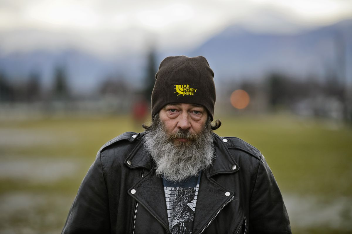 Floyd Hall is a member The Alaska A-Team. The group's mission is to track down stolen vehicles in Anchorage, using the power of social media and tips from the public. Photographed Nov. 27, 2018, in Anchorage. (Marc Lester / ADN)