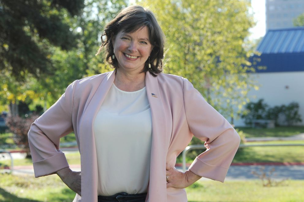 Congressional candidate Alyse Galvin on Wednesday, Sept. 9, 2020. (Bill Roth / ADN)