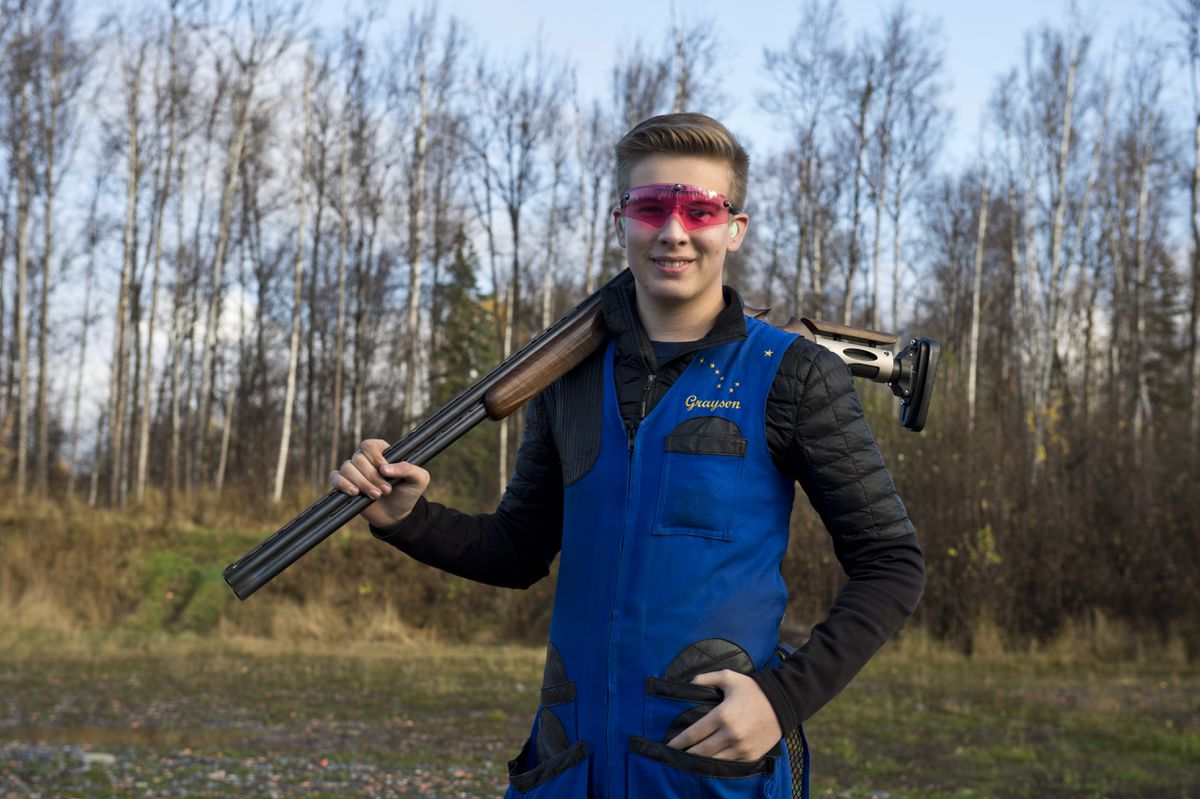 Grayson Davey, 16, earned a spot on the U.S. team for next year's season-opening World Cup trapshoot competition. (Marc Lester / Alaska Dispatch News)