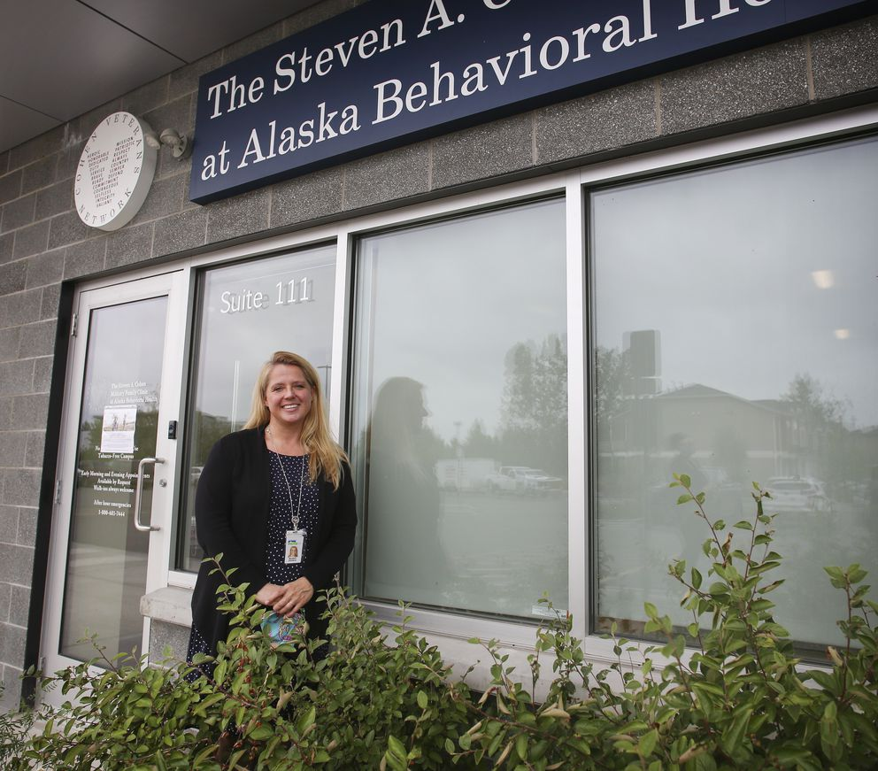 Clinic Director MaryBeth Goodman at The Steven A. Cohen Military Family Clinic at Alaska Behavioral Health in Anchorage on Aug. 6, 2020. (Emily Mesner / ADN)