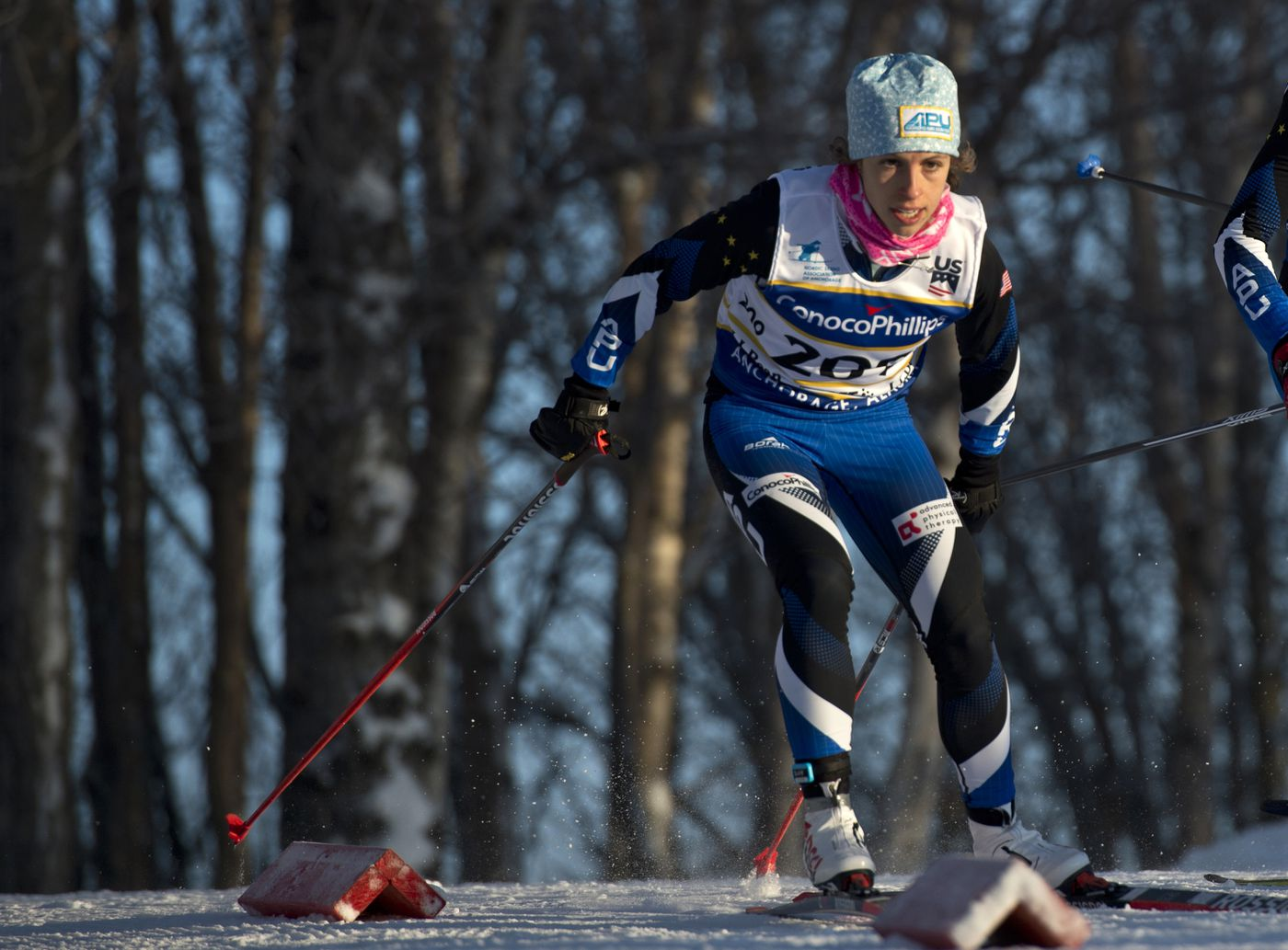 APU's Rosie Frankowski skis in the final day of the U.S. Cross Country Ski Championships on Jan. 8. (Marc Lester / ADN)