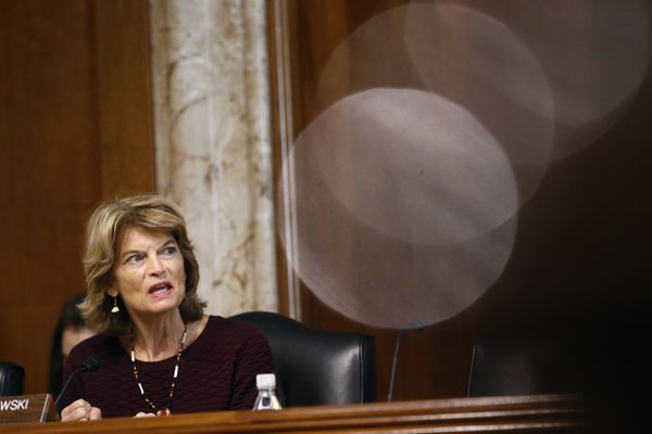 Sen. Lisa Murkowski, R-Alaska, chairwoman of the Senate Energy and Natural Resources Committee, speaks during a hearing with Energy Secretary Rick Perry on the President's budget request for Fiscal Year 2020, Tuesday, April 2, 2019, on Capitol Hill in Washington. (AP Photo/Patrick Semansky)