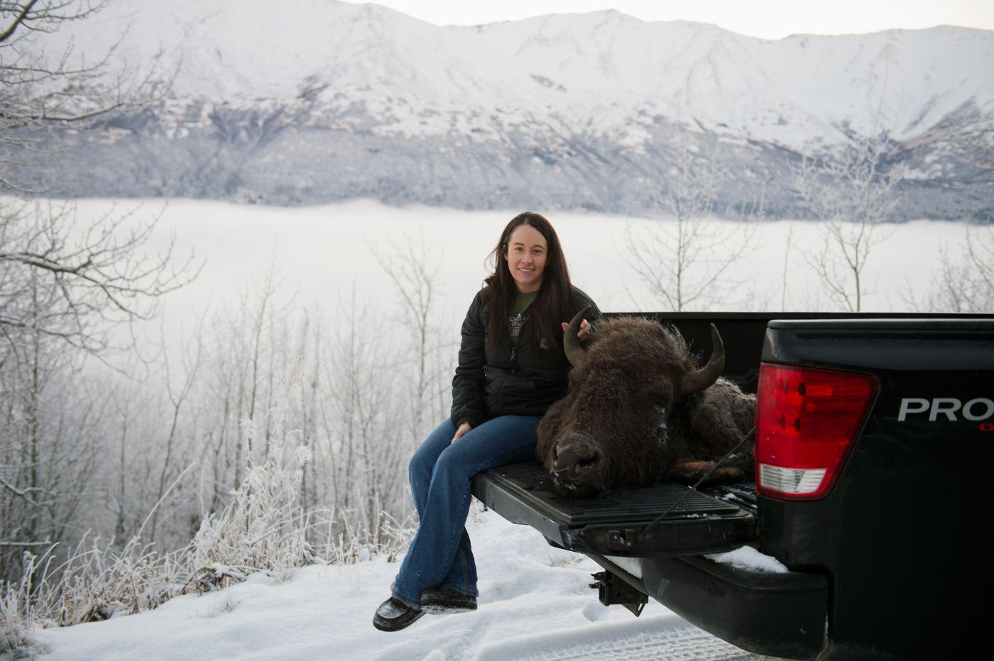 Samantha Huckstep at her Eagle River home. (Marc Lester / ADN)