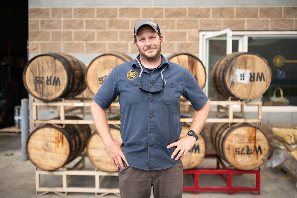 Lee Ellis, board president for the Brewers Guild of Alaska and director of operations at Midnight Sun Brewing, photographed at the brewery on Thursday, Aug. 13, 2020. (Loren Holmes / ADN)