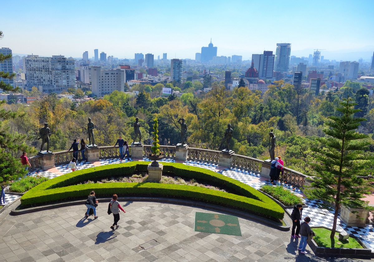 The view of Mexico City from atop the Chapultepec Castle. (Photo by Scott McMurren)