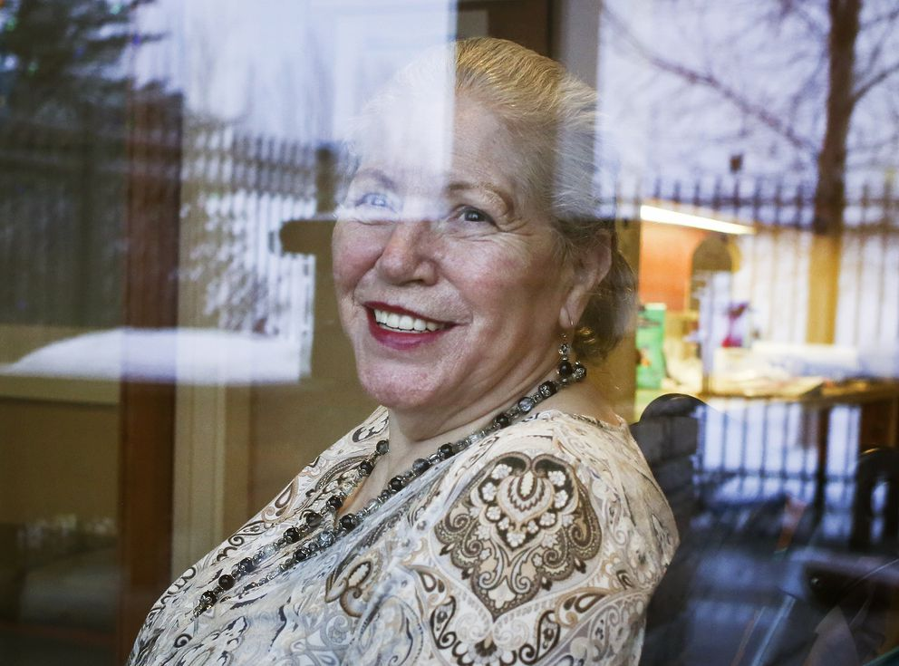 Rita Garris in her home at Providence Extended Care in Anchorage on Wednesday, Dec. 2, 2020. (Emily Mesner / ADN)