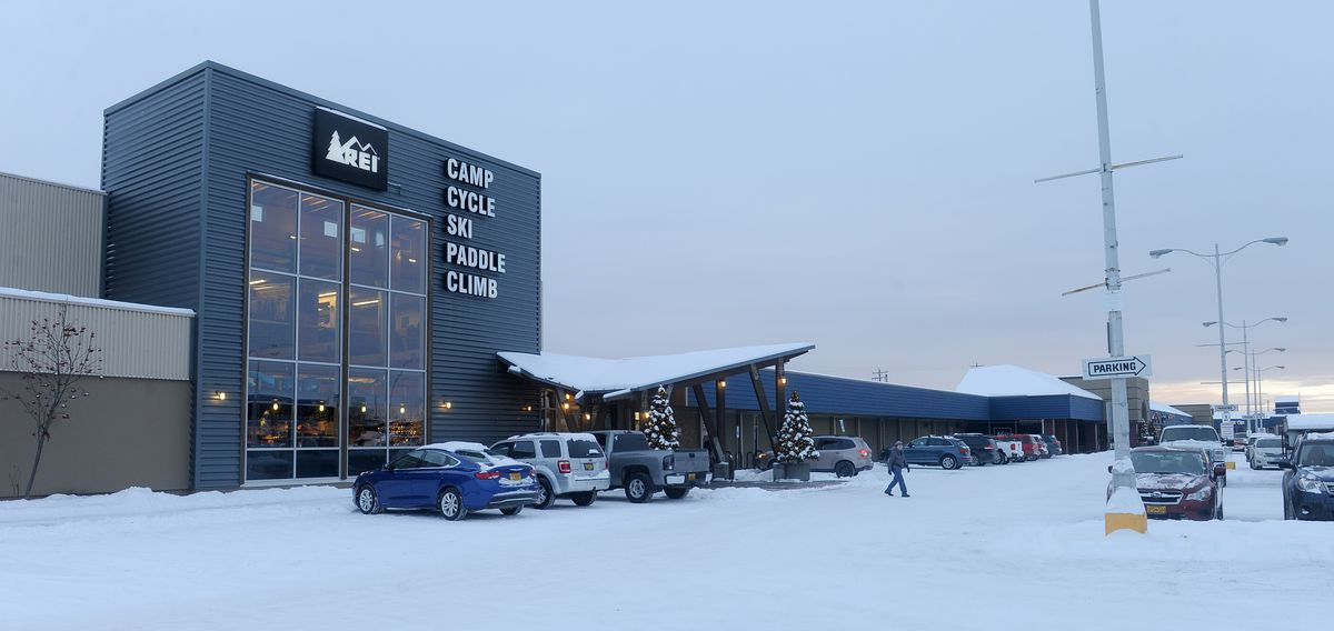 The REI store in Midtown Anchorage, 2016. (Bob Hallinen / Anchorage Daily News)