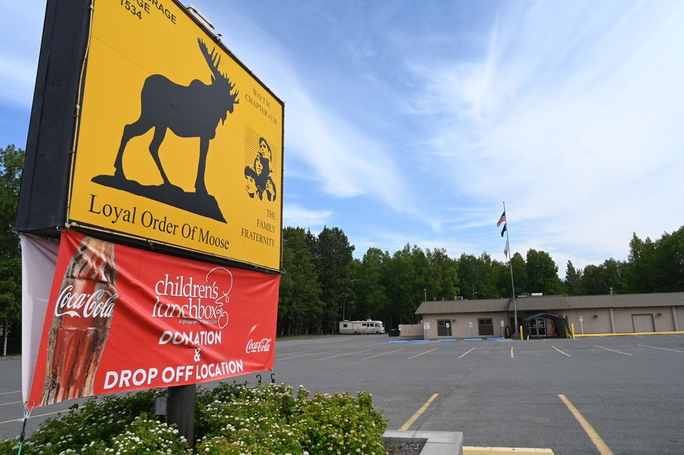 The Anchorage Moose Lodge #1534 on Arctic Boulevard, July 3, 2020. (Anne Raup / ADN)