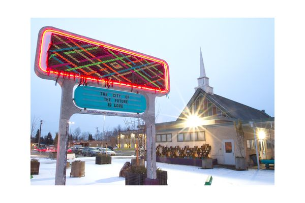The Church of Love in the Spenard region of Anchorage, Alaska. (Photo by Philip Hall)