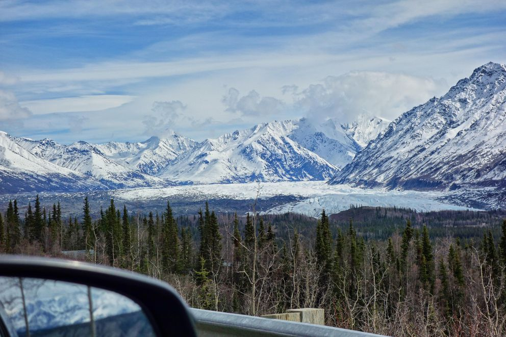 The view of Matanuska Glacier from the road. (Photo by Scott McMurren)