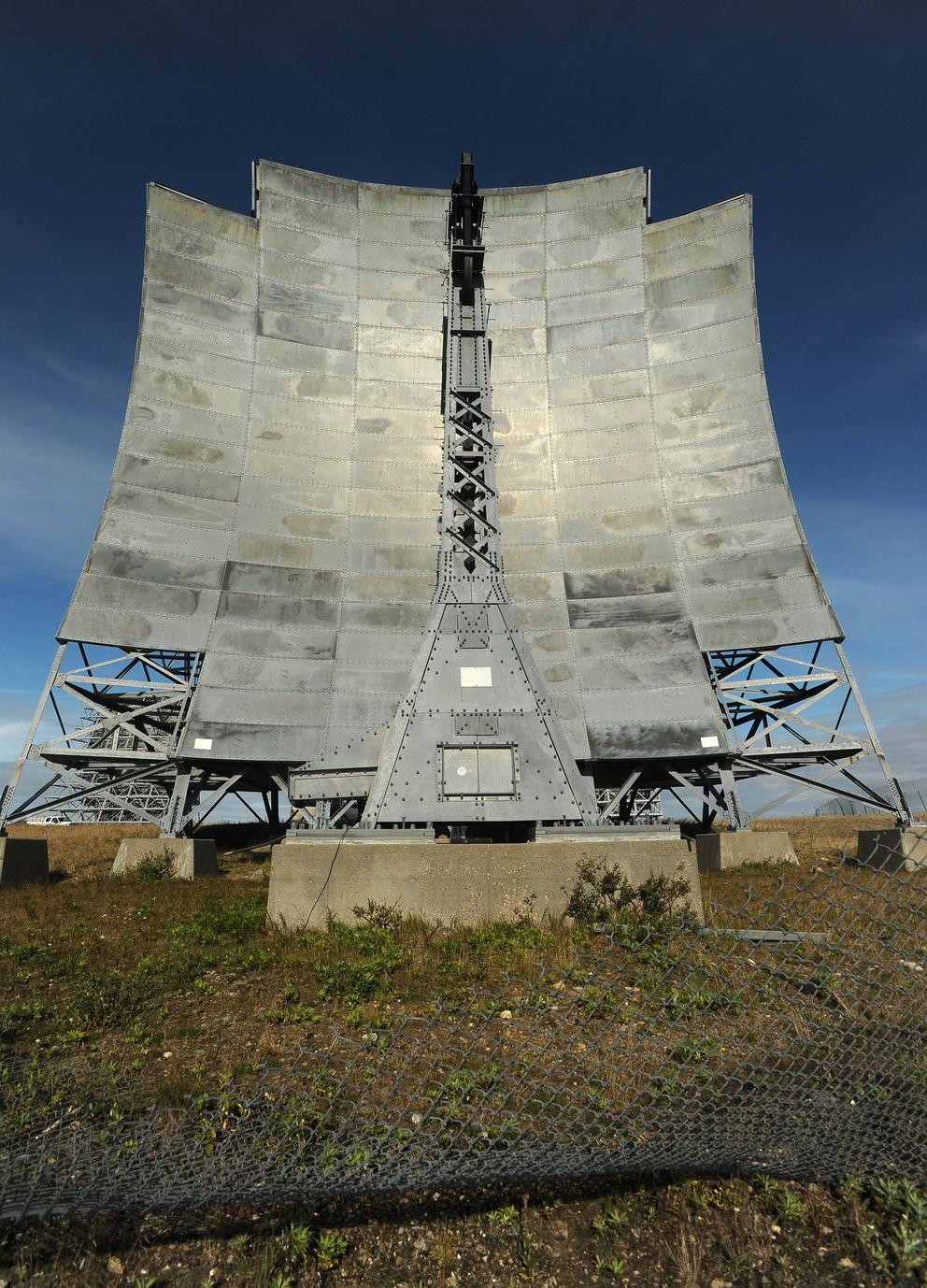 White Alice communications antennae above Nome on Aug.22, 2016. (Bob Hallinen / Alaska Dispatch News)