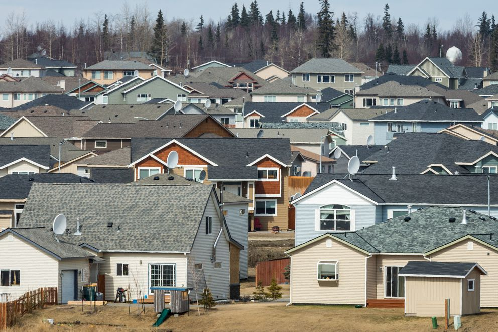 The Westpark subdivision in Anchorage, photographed on May 6, 2013. (Loren Holmes / ADN archive)