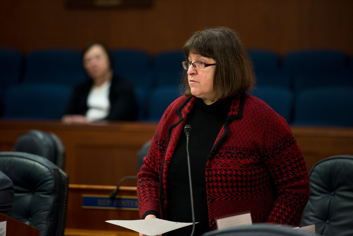 Rep. Harriet Drummond, D-Anchorage, speaks on the House floor last year. (Marc Lester / ADN)