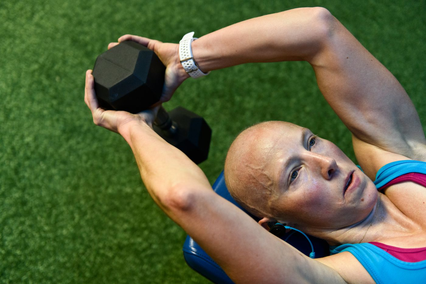 Kikkan Randall said it was a priority to stay active during the course of her cancer treatment. (Marc Lester / ADN)