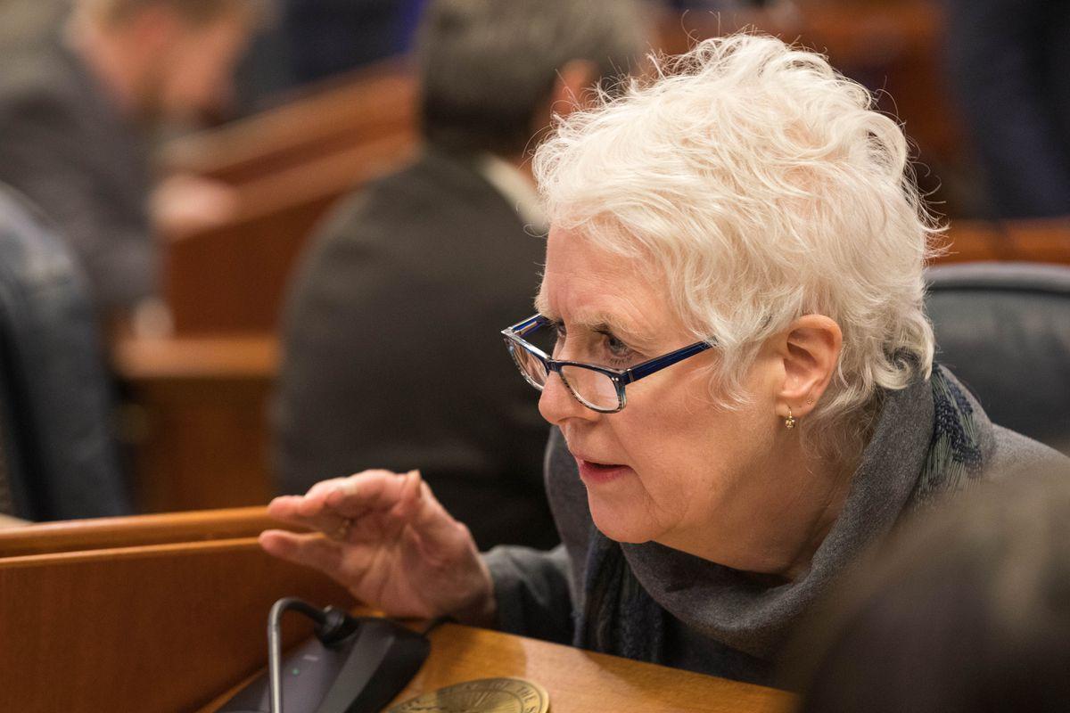 Rep. Louise Stutes, R-Kodiak, in the House chamber on Thursday, Jan. 17, 2019 at the Alaska State Capitol. (Loren Holmes / ADN)
