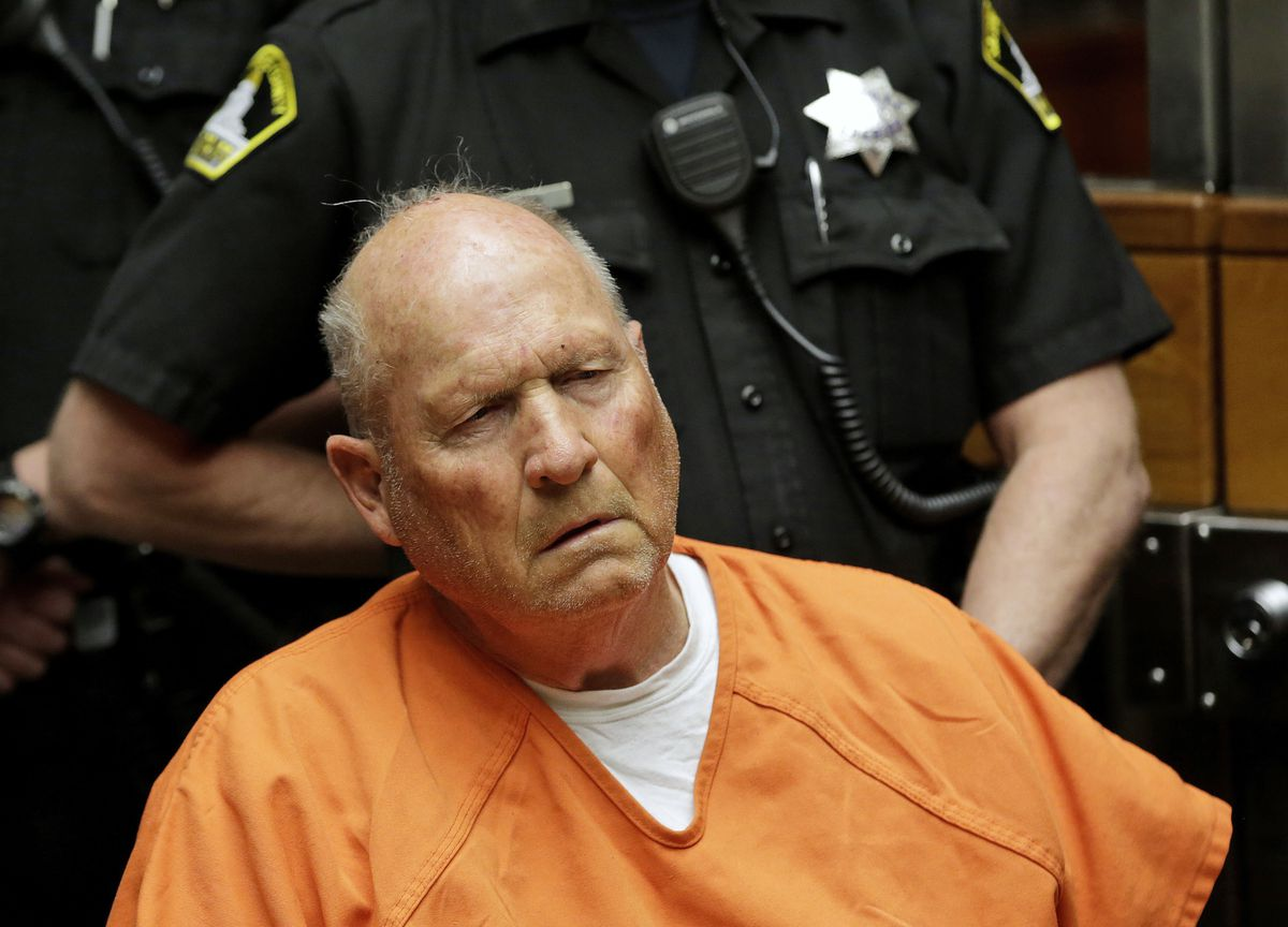 FILE - In this April 27, 2018 file photo Joseph James DeAngelo, is arraigned in Sacramento County Superior Court in Sacramento, Calif. (AP Photo/Rich Pedroncelli, File)