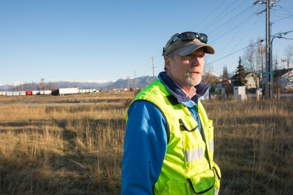 Local property owner Jim Renkert organized a cleanup effort at the old Alaska Native Medical Center. (Loren Holmes / Alaska Dispatch News)