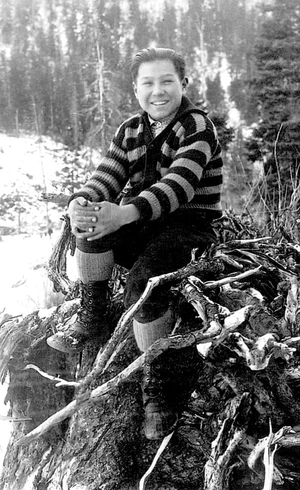 Benny Benson at age 13 after winning the Alaska flag contest. (AK Child and Family)