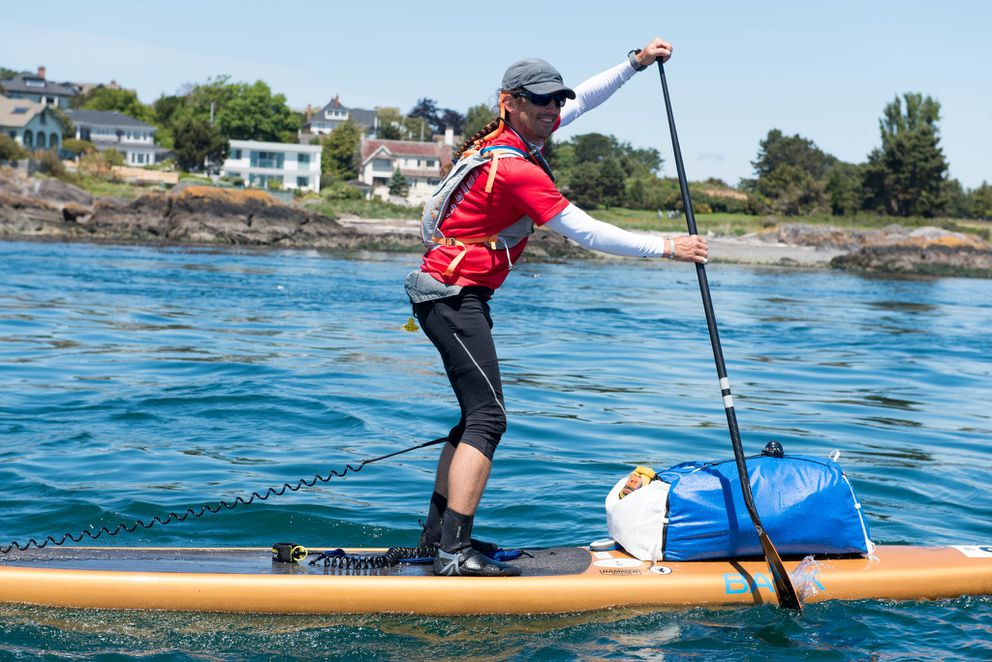 Karl Kruger paddled from Washington state to Ketchikan in 14 days. (Katrina Zöe Norbom)