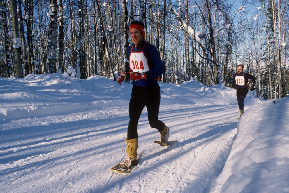 Snowshoeing is one of the less traditional sports contested in the Arctic Winter Games. (Bill Roth / ADN archive)
