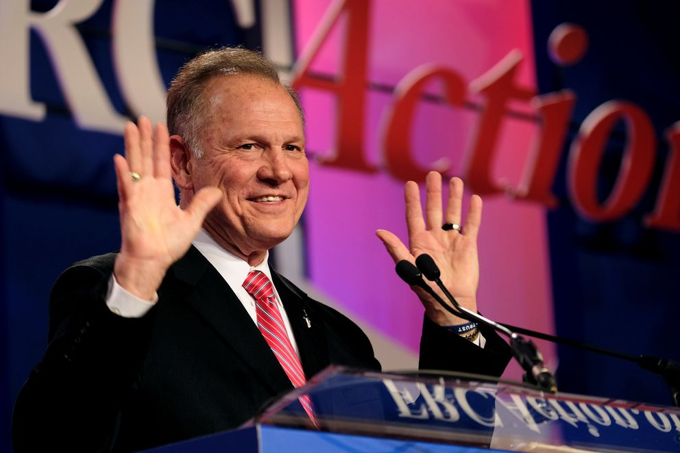 Former Alabama Supreme Court Chief Justice Roy Moore speaks at the Values Voter Summit of the Family Research Council in Washington, DC, U.S. October 13, 2017. REUTERS/James Lawler Duggan/File Photo