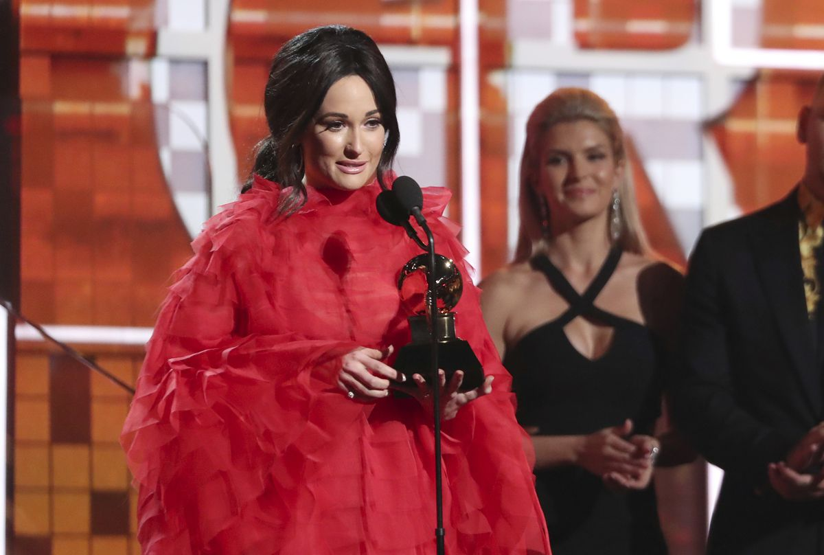 Kacey Musgraves accepts the award for best country album for