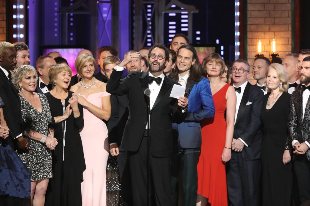 """Angels in America"" wins the award for best revival of a play at the 72nd Annual Tony Awards at Radio City Music Hall in New York, June 10, 2018. (Sara Krulwich/The New York Times)"