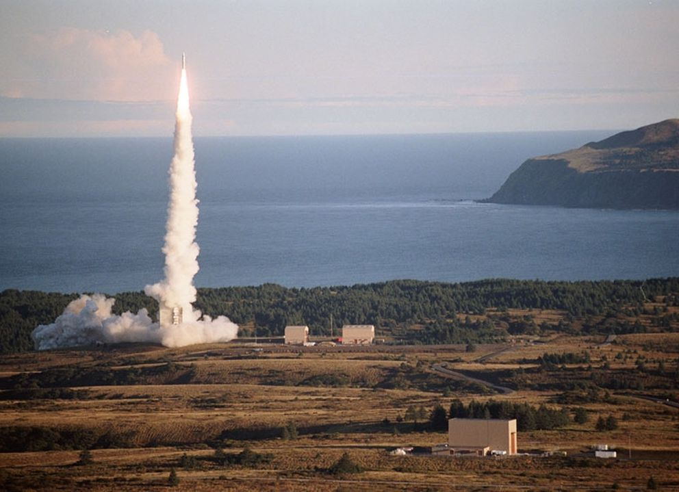 A rocket takes off from the Pacific Spaceport Complex-Alaska. (Alaska Aerospace Corp. handout photo)