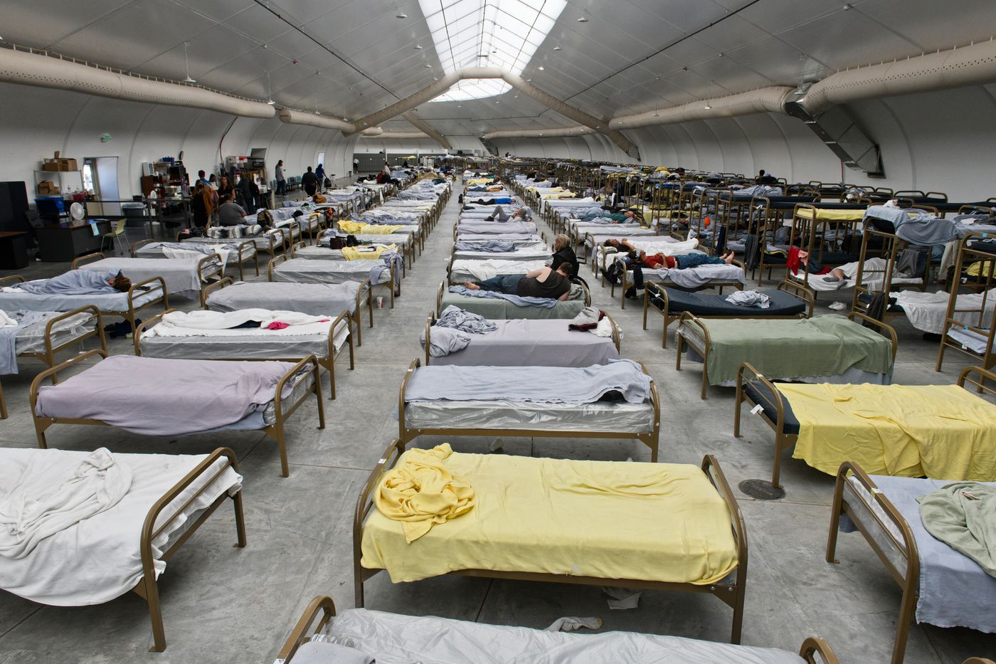 The Nevada CARES Campus was built to shelter 600 people in Reno, Nevada. In late June, more than 500 people were staying there.(Marc Lester / ADN)