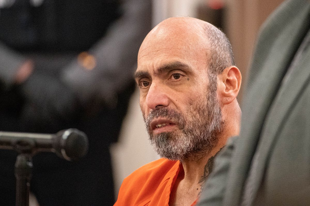 Juan Camarena is arraigned on charges of sexual assault, sex trafficking and assault Tuesday, Nov. 26, 2019 at the Palmer courthouse. Camarena is also a