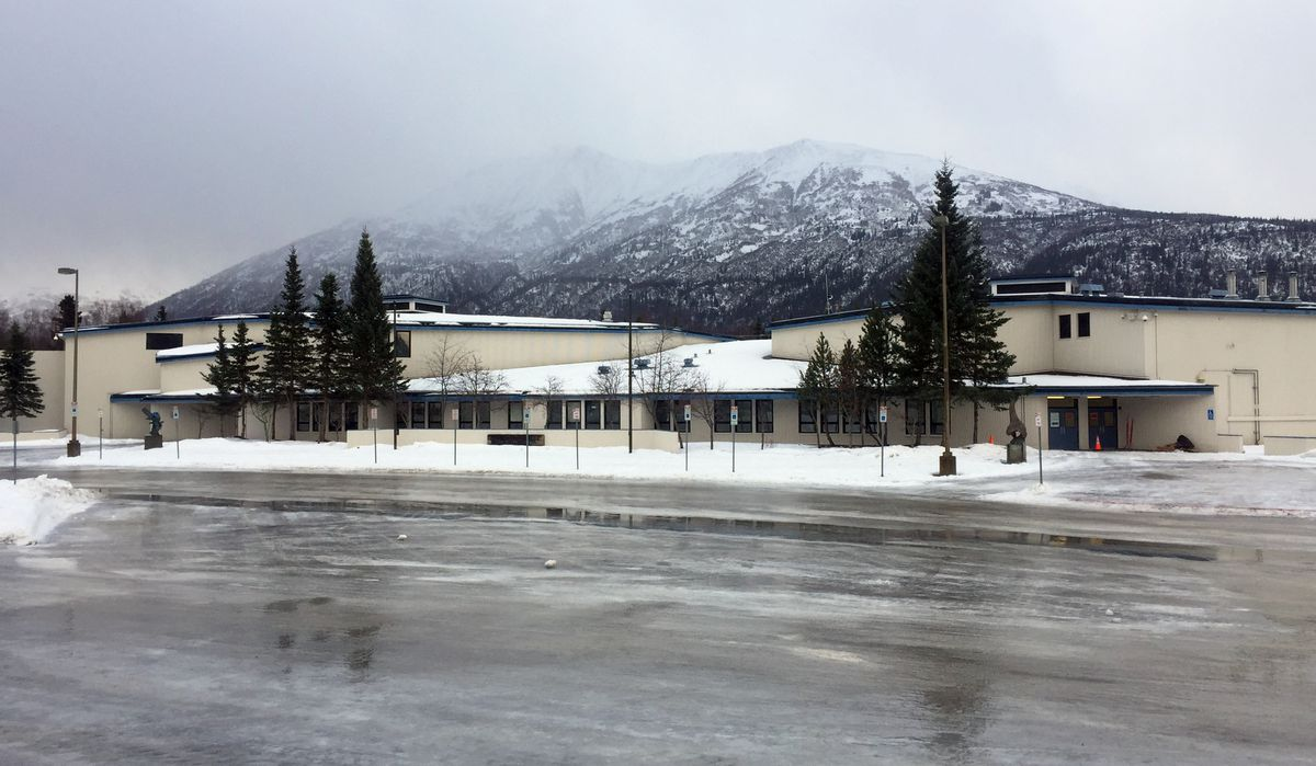 Anchorage School District officials announced on Jan. 22 that Gruening Middle School will remain closed for at least the 2019-20 school year. The school off Lee Street in Eagle River opened in 1984. (Star photo by Matt Tunseth)