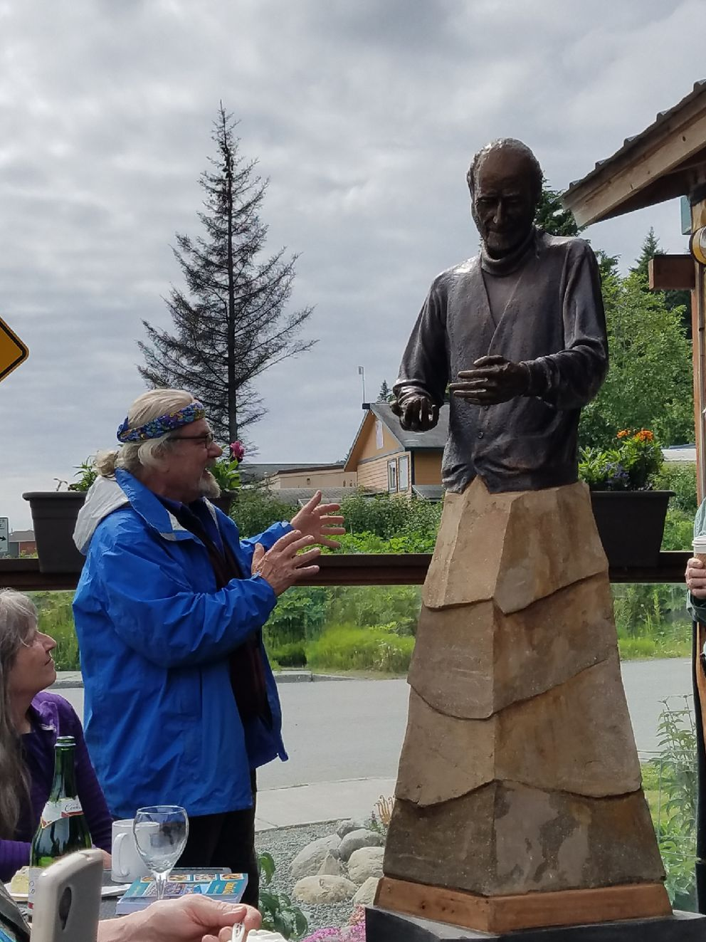 Artist Leo Vait created a bronze sculpture of Homer pioneer Asaiah Bates. After the gift was rejected by the city of Homer, the bronze sat in his studio for four years. (Photo by Nancy Vait)